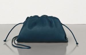 bottega bag, mini bag, navy bag