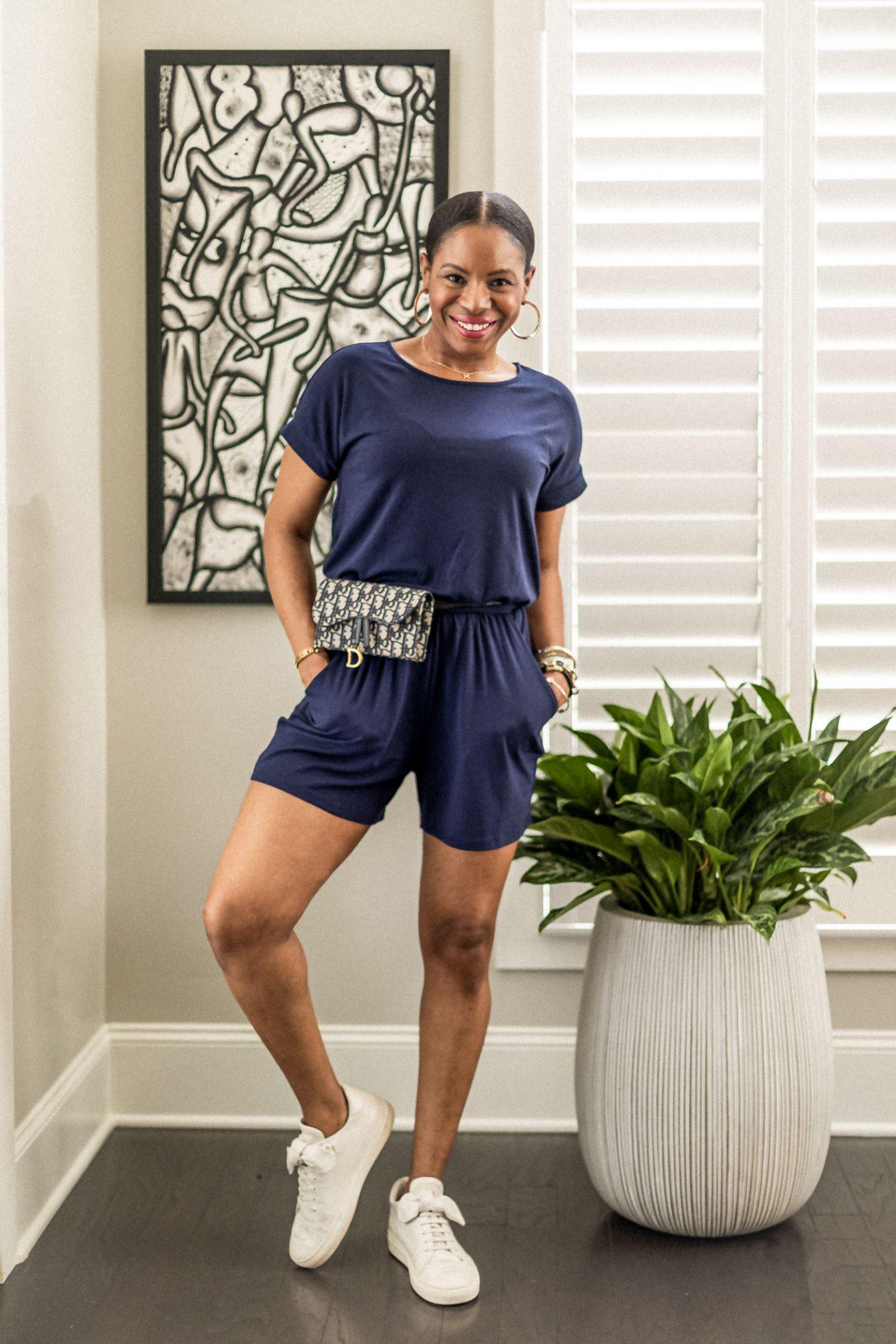 navy jumpsuit, loungewear dress, black loungewear dress,ladyee dress, black dress, how to style a pink dress for summer, lounge wear, best loungewear for summer, summer fashion