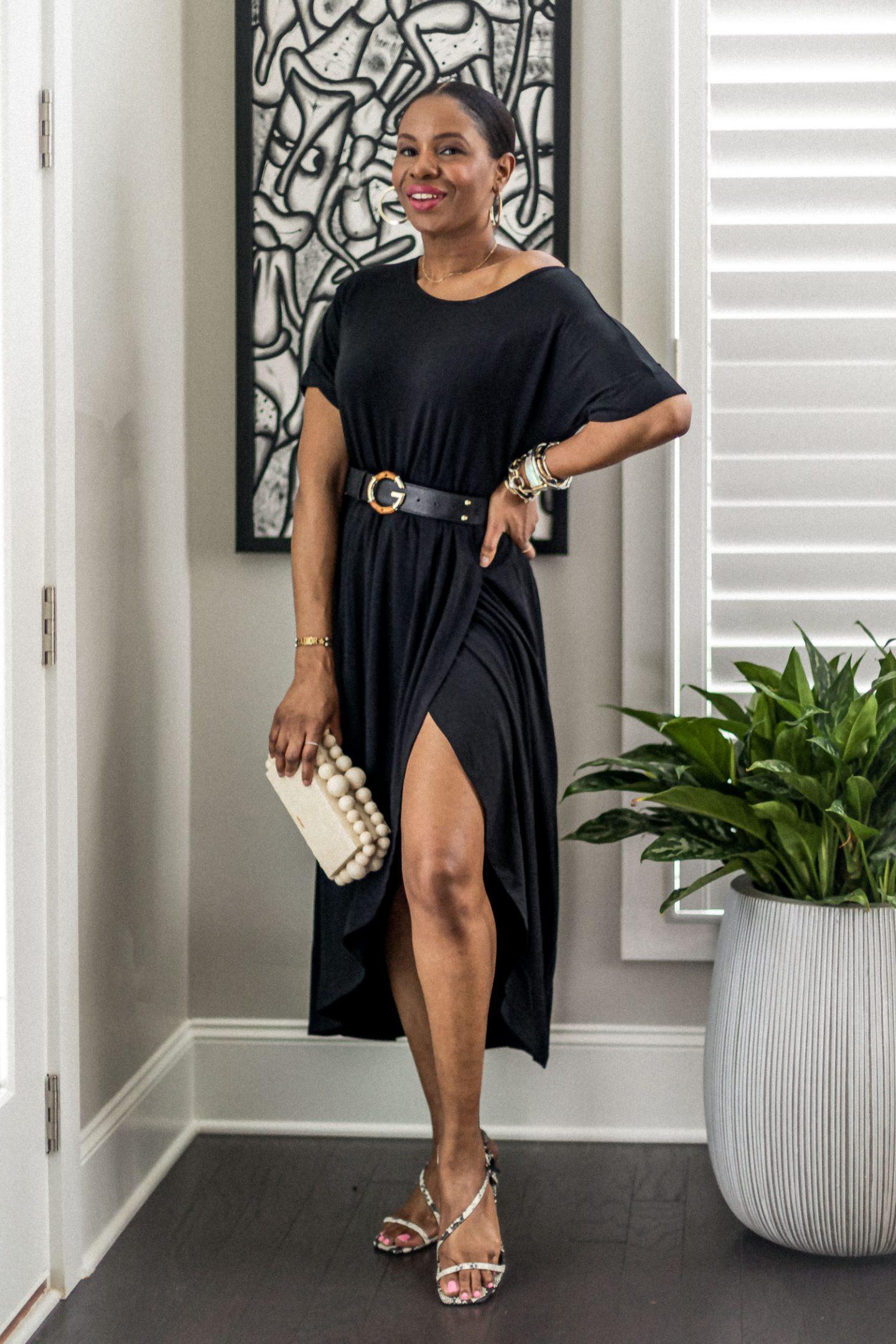 lbd, little black dress, loungewear dress, black loungewear dress,ladyee dress, black dress, how to style a pink dress for summer, lounge wear, best loungewear for summer, summer fashion
