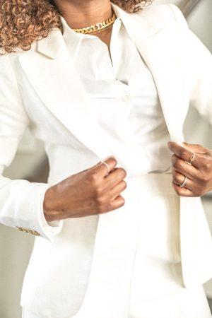 white blazer, closet essentials, wardrobe essentials, how to wear white, all white outfit