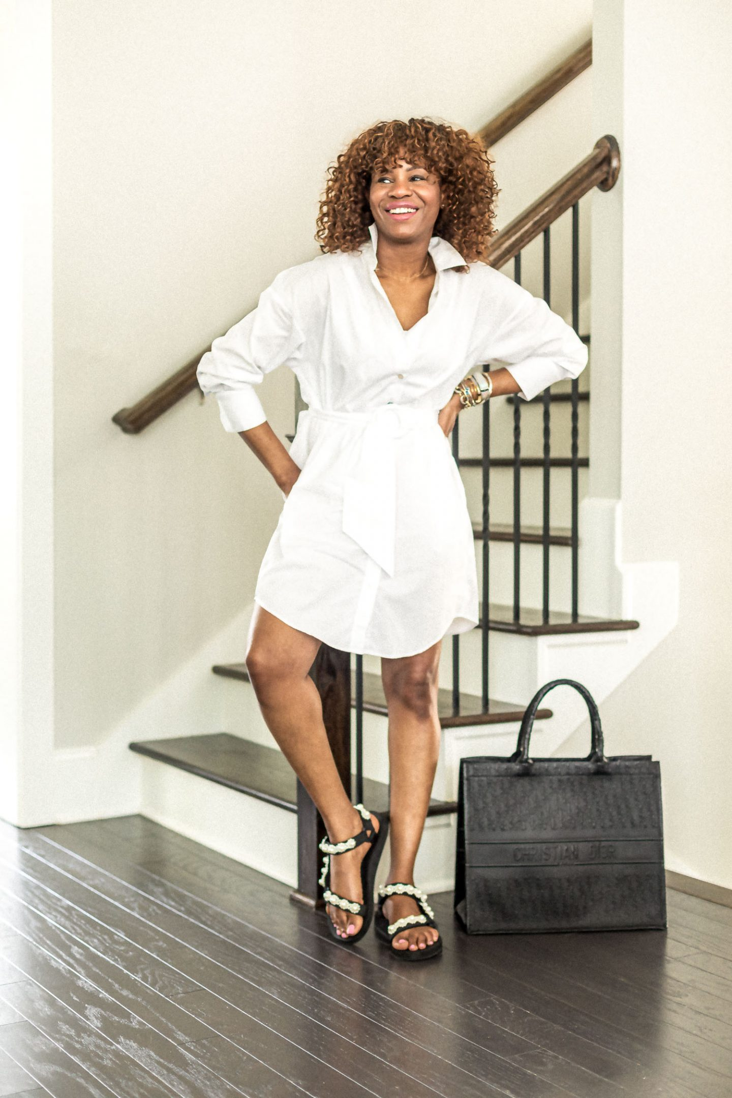 shirt dress, white pants, how to style white pants, closet essentials, wardrobe essentials, how to wear white, all white outfit