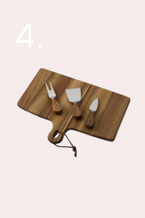 cheese board and knife set, holiday gifts, gifts for the home, gift guide, oil diffuser