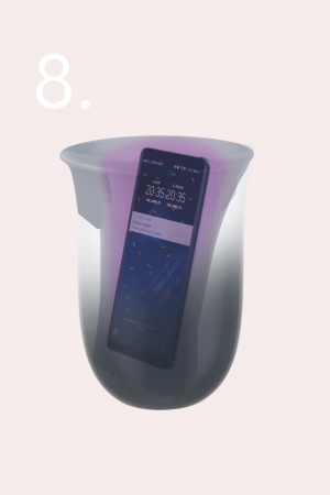 wireless charger & uv cleaner holiday gifts, gifts for the home, gift guide, oil diffuser