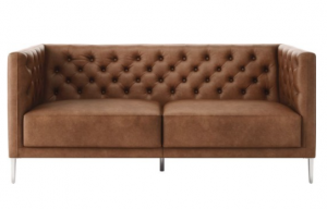 cb2, sofa, leather, leather sofa