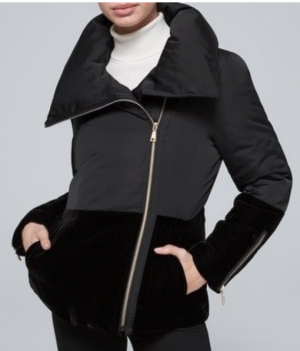 black puffer jacket, puffer coat, whbm