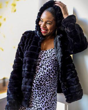 leopard print, slip dress, how to style a slip dress for the holidays, leopard slip dress, purple dress, purple slip dress, walmart faux fur coat, mink coat, how to style a faux fur coat for the holidays, holiday coat, fur coat, black short fur coat, walmart fashion