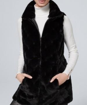 whbm, vest, faux fur