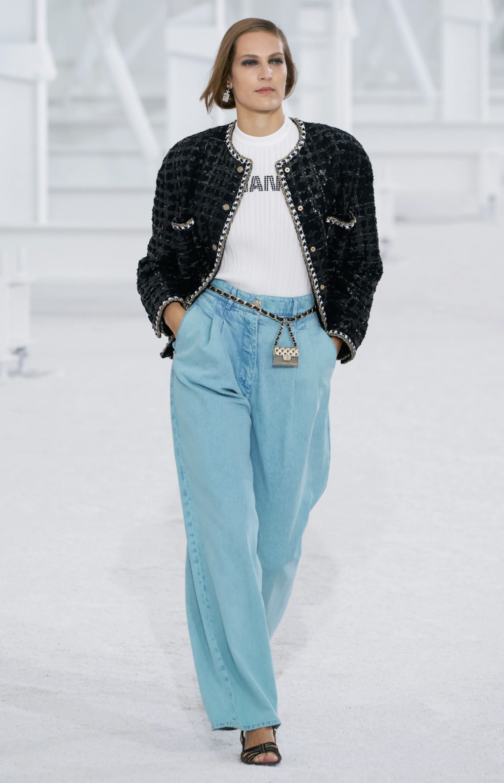 wide leg pants, chanel, fashion trends, top trends