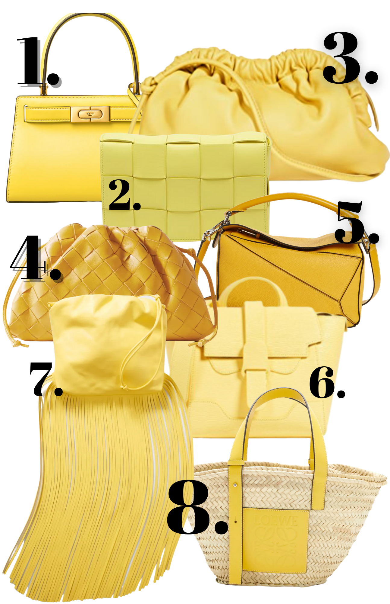 must have bag trends, 2021 bag trends, yellow bag trends 2021